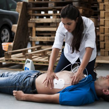 All our First Aid at Work courses now includes Safe Use of an AED