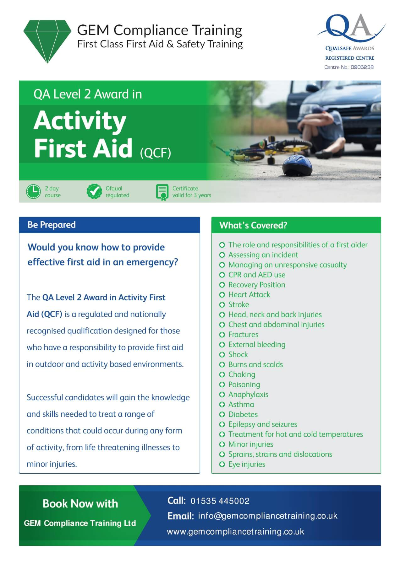 Activity First Aid