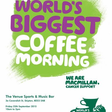 We are hosting a World's Biggest Coffee Morning!