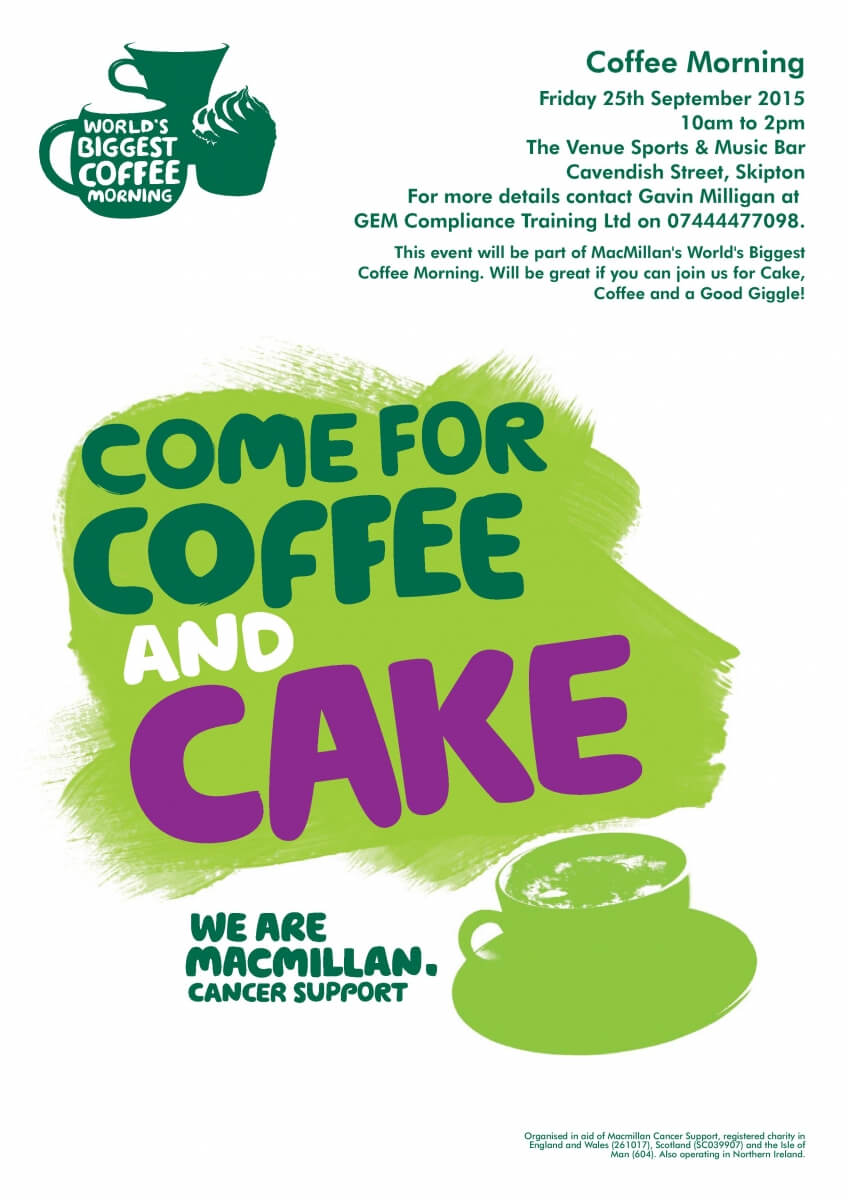 Coffee Morning Poster Page 001 Gem Compliance Training Ltd