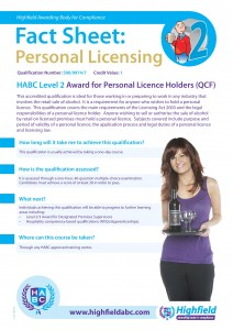 Personal Licence Level 2
