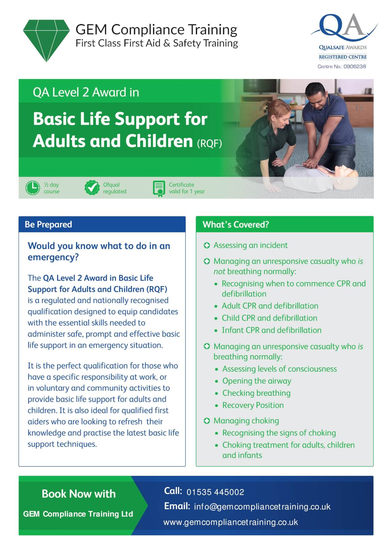 Basic Life Support Courses Bradford Bingley Keighley