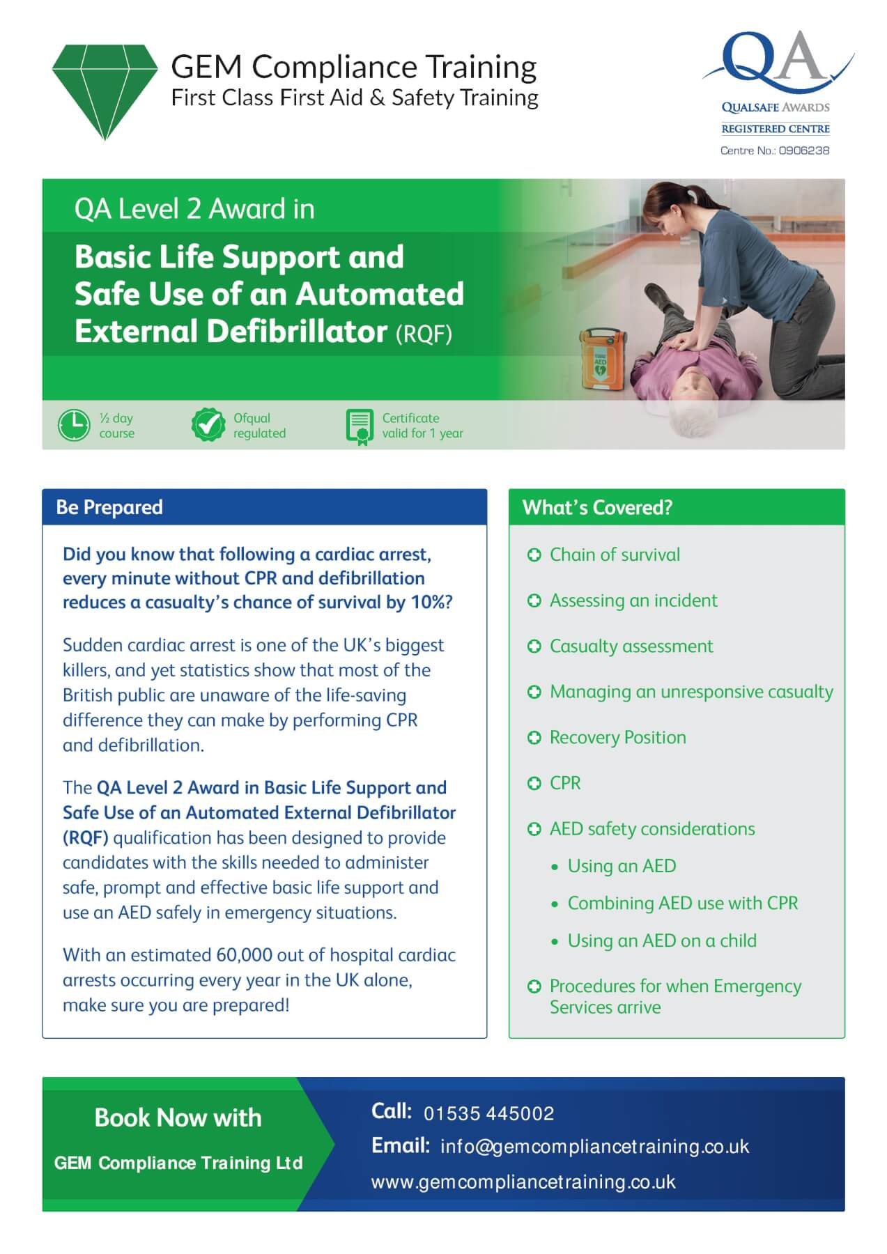 BLS & Safe Use of an AED
