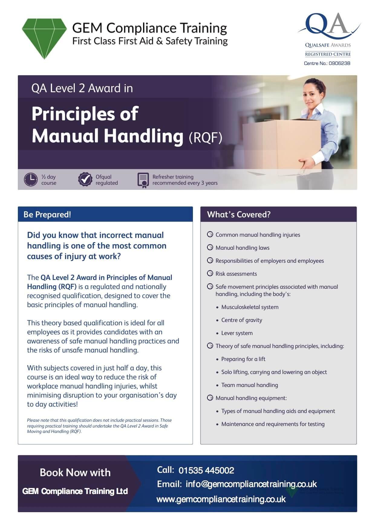 Principles of Manual Handling
