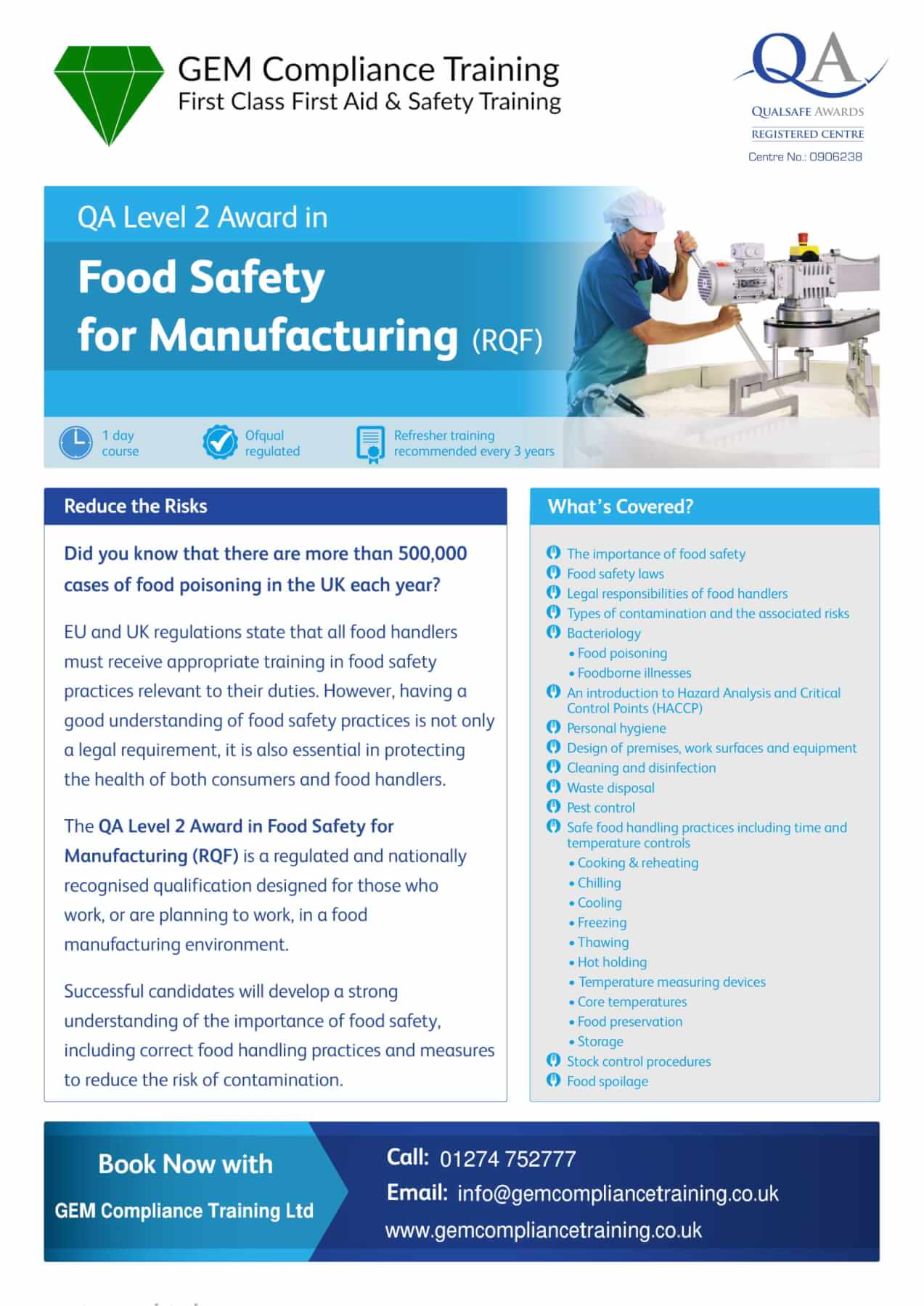 Food Safety Training Courses Bradford Keighley Skipton