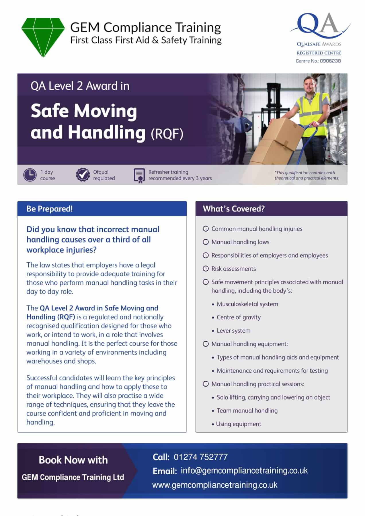 Safe Moving and Handling